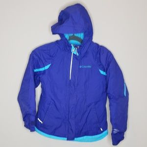 Columbia Mid Weight Winter Ski Coat Lined XS 6/6X